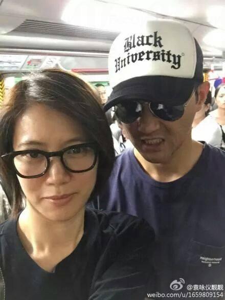 張智霖、袁詠儀搭地鐵
