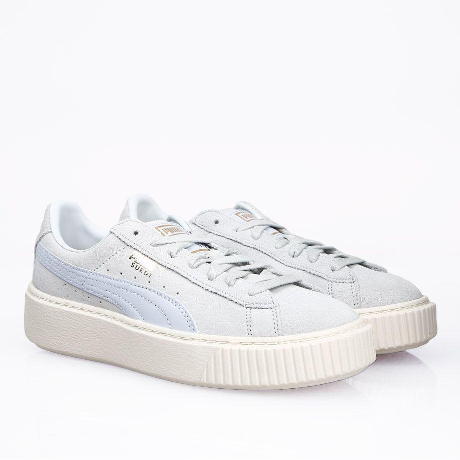 精選9款夢幻糖果色波鞋!來做個甜美運動風女孩!Puma Suede Platform Core Halogen Blue