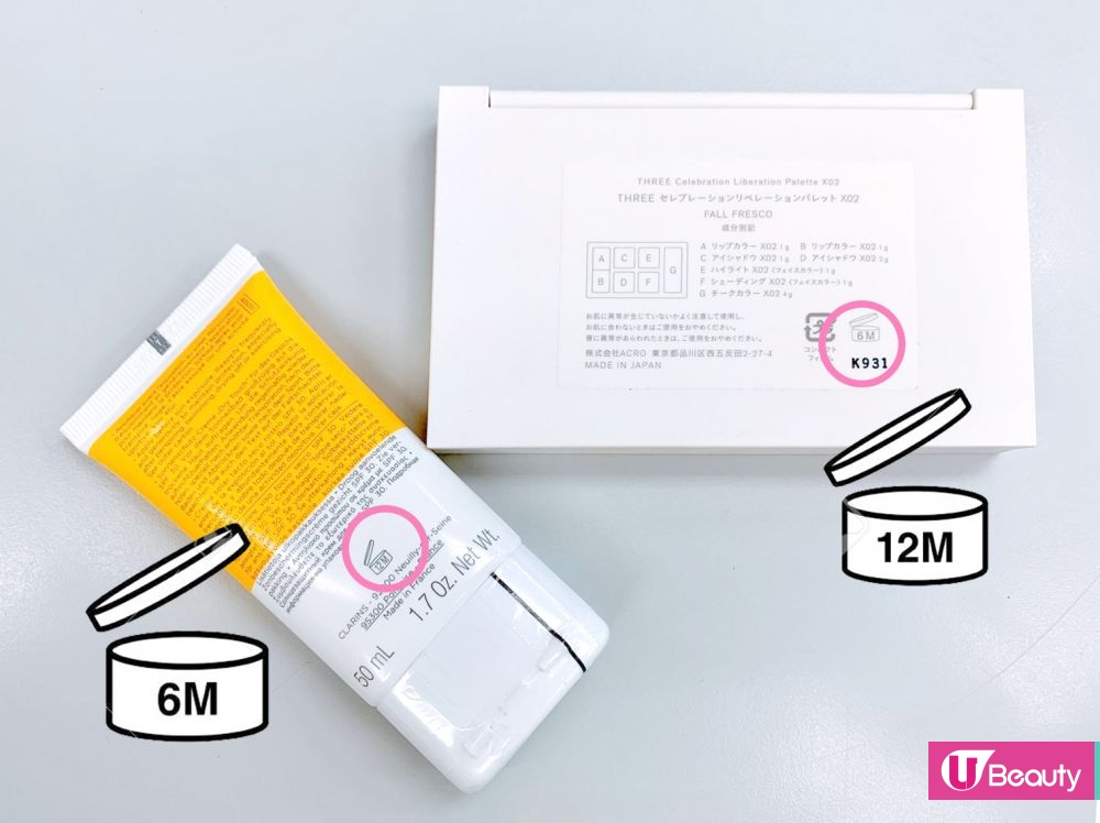 由產品開封的第一天算起,如「12M」則代表建議開封12個月內使用完。