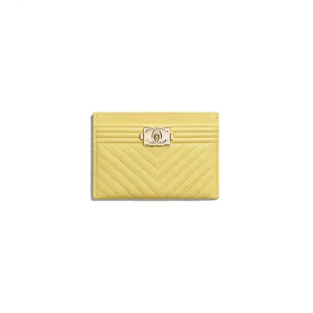 Boy Chanel卡片套 #黃色 (售價港幣HKD $3,100)
