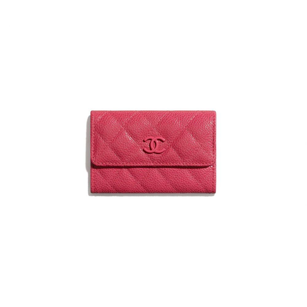 垂蓋卡片套 #深粉紅色 (售價港幣HKD $3,800)
