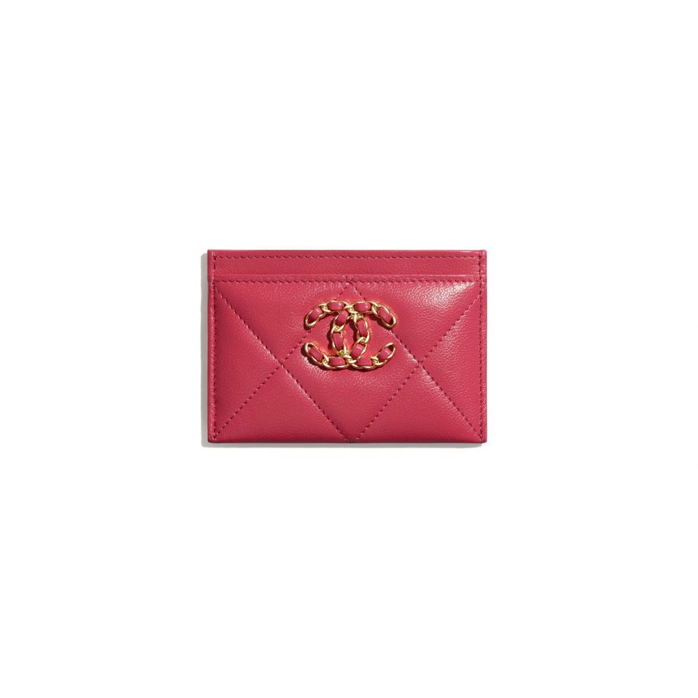 chanel 19鎖匙包 #深粉紅色 (售價港幣HKD $3,500)