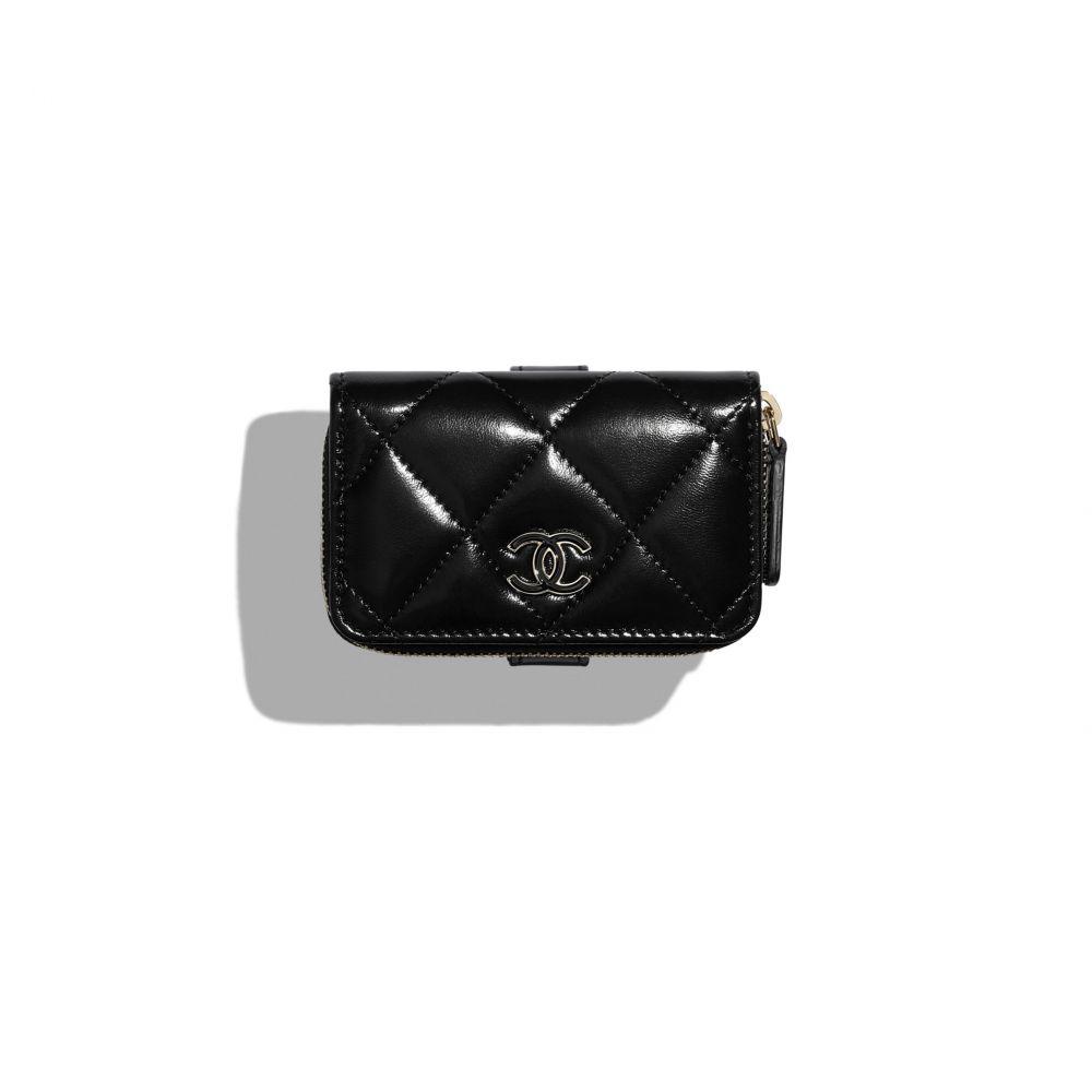 腕套式拉鏈零錢包 #黑色 (售價港幣HKD $5,700)