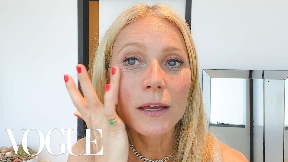 最近,Gwyneth Paltrow雜誌邀請拍攝分享護膚程序。