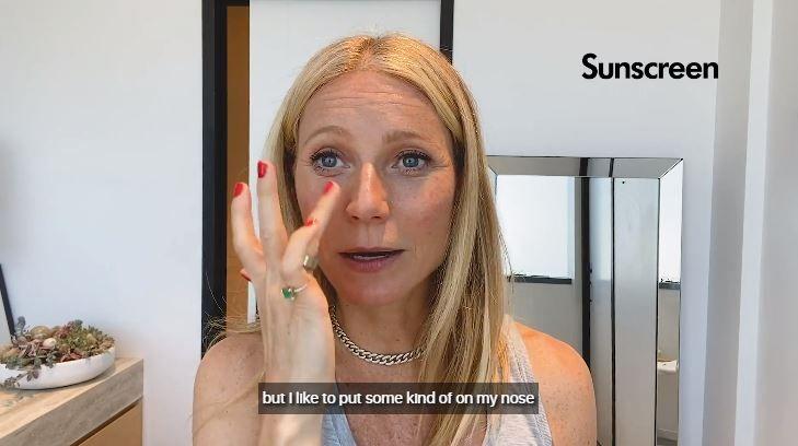 她表示只會著重點塗在臉部會直接接觸到陽光的位置,如鼻子、顴骨及眼下臉頰部位。
