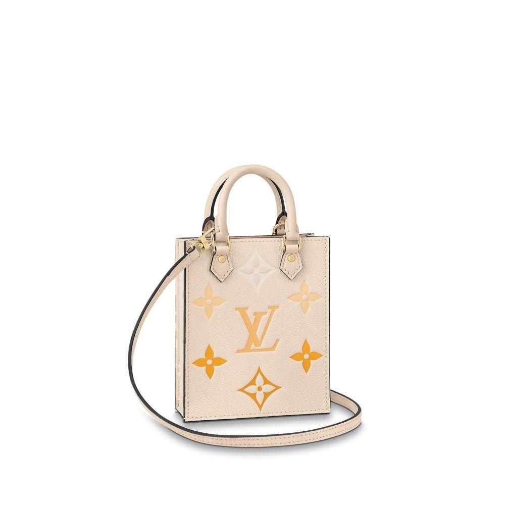 LOUIS VUITTON PETIT SAC PLAT乳白/番紅花黃漸變色 HK$15,200。這款手袋是2021夏季By The Pool系列的款式。