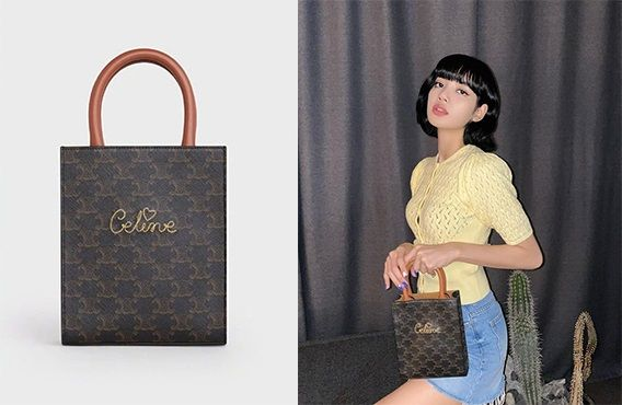 CELINE MINI VERTICAL CABAS IN TRIOMPHE CANVAS 限定款式,價格以 官方為準。