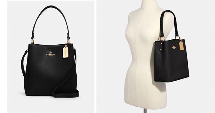 Coach Town Bucket 91122 Shoulder Bag In Black Oxblood   原價:HK$ 3,333.00  |  現售:HK$ 3,167.00 (95折)
