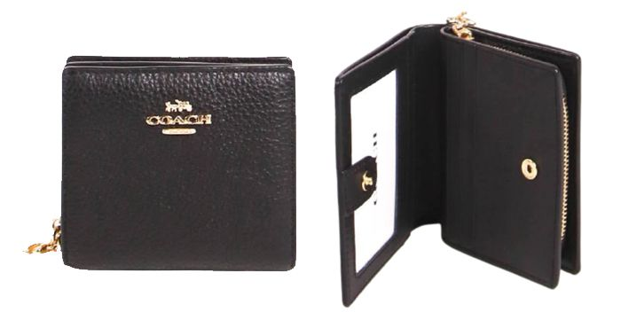 Coach Coach Snap Wallet C2862 Black   原價:HK$ 1,456.00 |現售:HK$ 1,027.00 (7折)