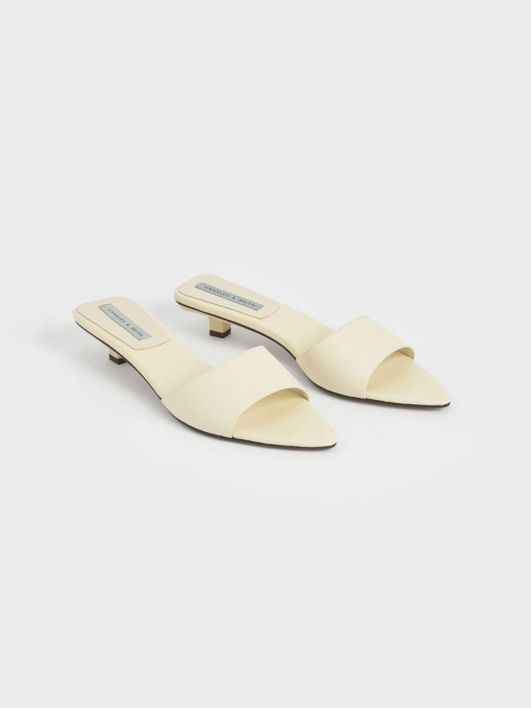 尖頭低跟拖鞋 - 石灰白  HK$399.00 現價 HK$319.00 (20% OFF)