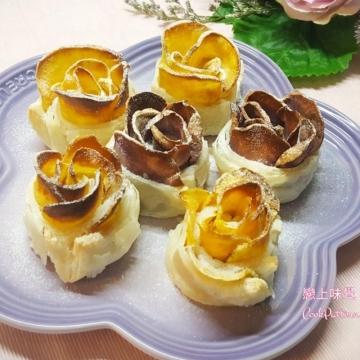 浪漫滿瀉!兼備營養─蕃薯玫瑰酥(附食譜教學)