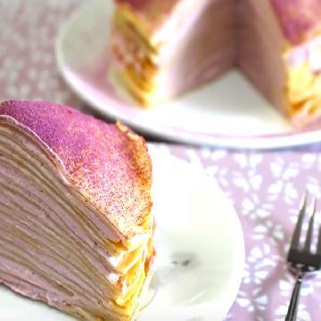 浪漫免焗甜品:紫薯千層蛋糕 食譜
