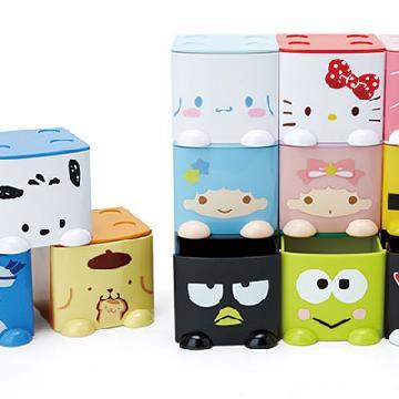 收納小幫手!Sanrio可愛小櫃桶