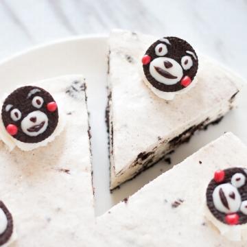 可愛熊本熊甜品!超簡單免焗OREO芝士凍餅食譜