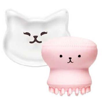 韓國Etude House開箱試用!貓貓透明粉撲%26水母洗臉器