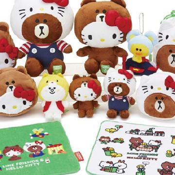 齊齊換裝!LINE FRIENDS & HELLO KITTY系列