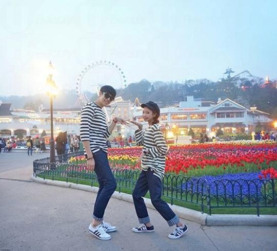 疯狂的韩国情侣装