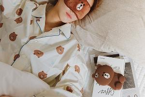 印上熊大圖案!韓國LINE FRIENDS推出睡衣
