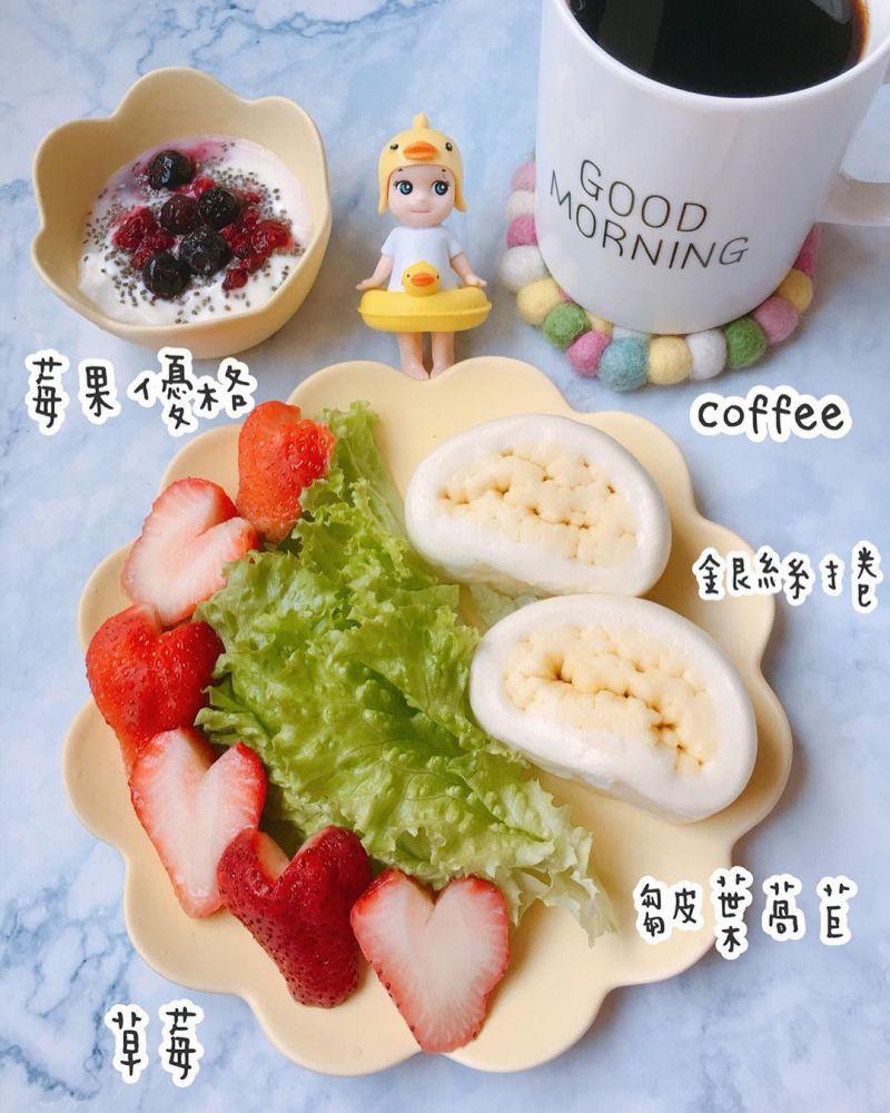 銀絲捲莓果早餐