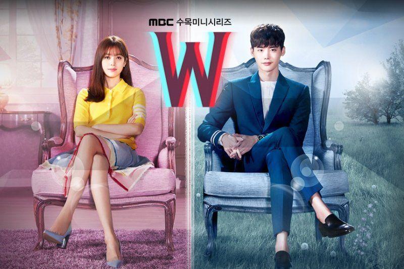 第6位 《W—兩個世界》 主演:李鍾碩、韓孝珠 | 電視台:MBC(2016年)