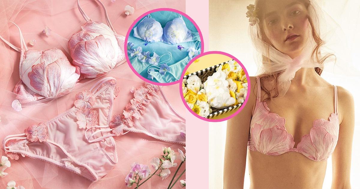 粉嫩色調花瓣+透膚設計!日本PEACH JOHN加推3款