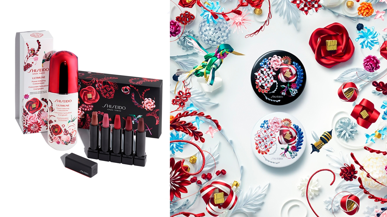 超美!以日本緞帶藝術為設計!Shiseido推出節日限