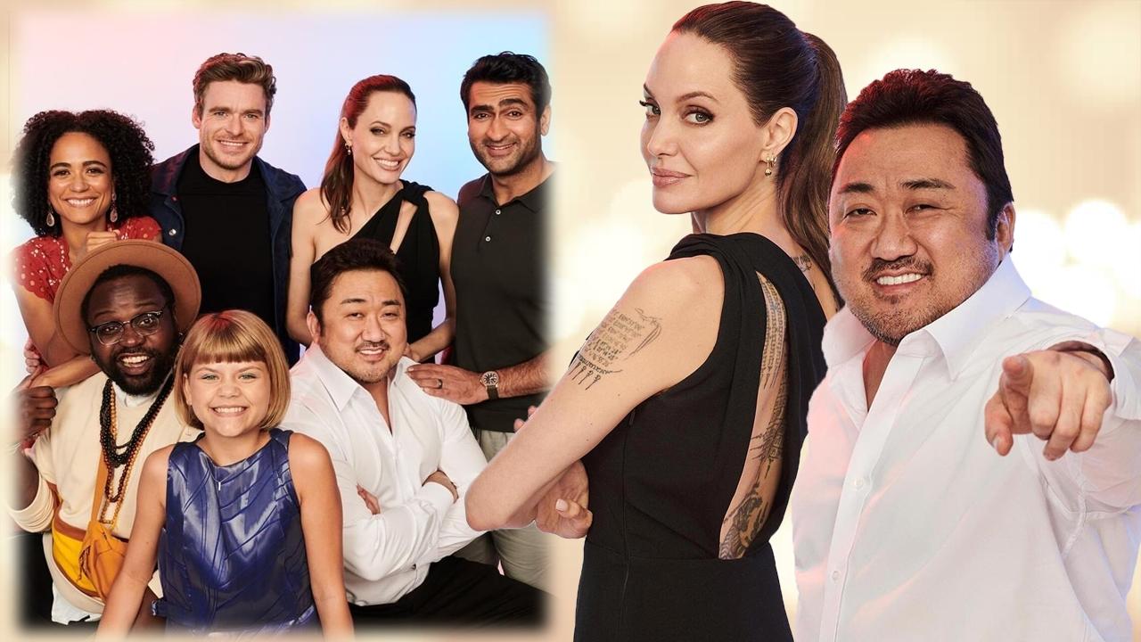 首位Marvel韓國演員!馬東石與Angelina Jolie《永恆族》宣傳照公開!擁有美國國籍、流利英文!