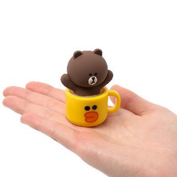 韓國LINE FRIENDS超萌新品!杯子裡的CONY熊大USB