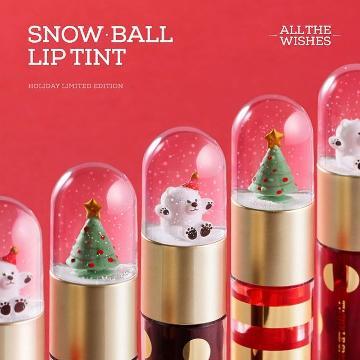 飄雪染唇液!韓國THE FACE SHOP推出聖誕Snow Ball Tint
