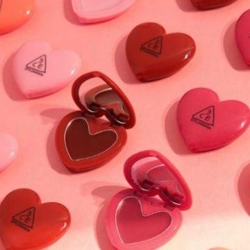 超萌少女心形包裝!3CE推出5色Heart Pot Lip