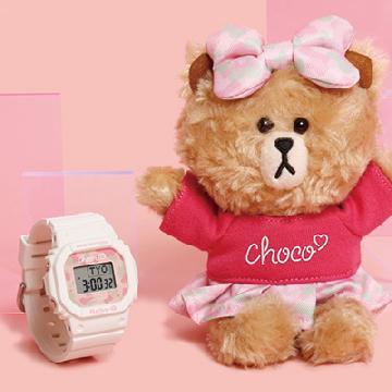 CHOCO配粉白色!BABY-G × LINE FRIENDS