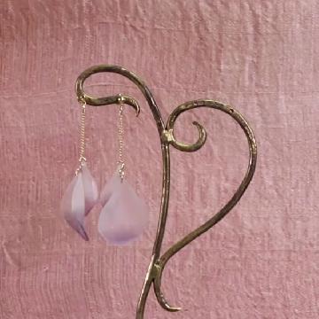 熱熔膠槍 + 樹脂!DIY氣質花瓣耳環