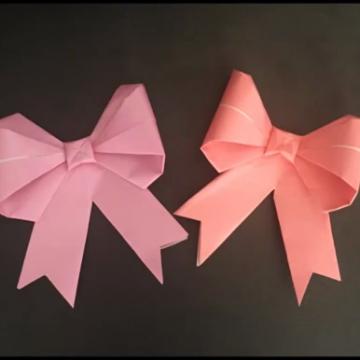 1張紙+鉸剪!簡易立體蝴蝶結摺法