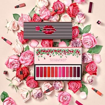 玫瑰般的親吻!韓國Etude House推出12色唇膏套裝