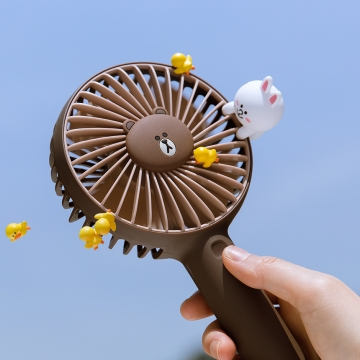Brown、Sally陪你過夏天!韓國LINE FRIENDS新推便攜式風扇