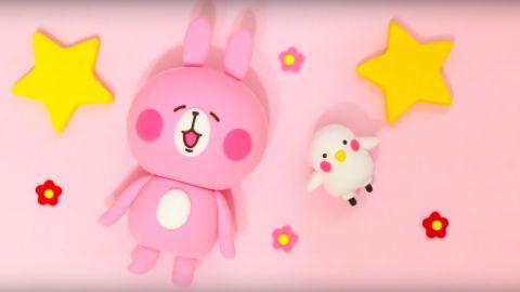 孖住上可愛度UP!自製P助與粉紅兔兔公仔