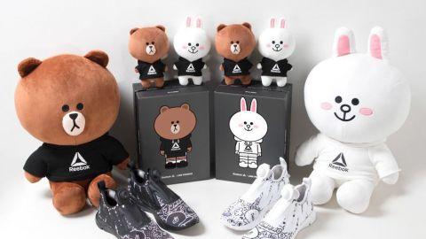 【波鞋】型格黑白配色!韓國Reebok新推2款LINE FRIENDS運動鞋