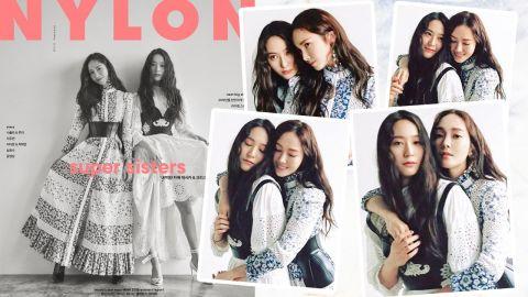 Jessica和Krystal終於合體!鄭氏姊妹再度為雜誌《NYLON》拍攝封面!