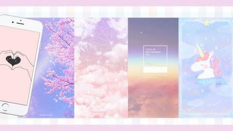 超過20款粉嫩色少女風手機桌布!夢幻獨角獸、櫻花、漸變雲彩!
