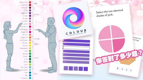 英國Lenstore推出「色彩敏感度測試」!只有1%的人全答中!你能分清這些顏色?
