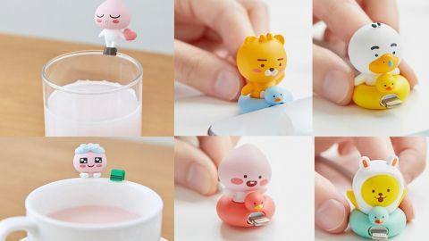 韓國Kakao Friends推出2款Apeach造型杯緣子!同場還有RYAN、TUBE、MUZI水泡造型電線保護套!