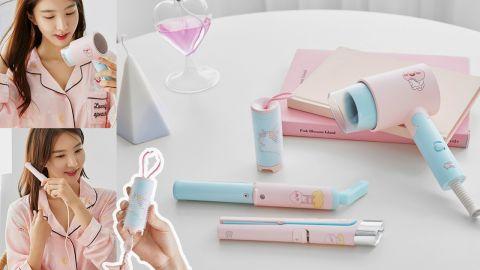 韓國KAKAO FRIENDS x UNIX 新推頭髮造型工具!可愛粉嫩Apeach迷你風筒、捲髮器、髮捲!