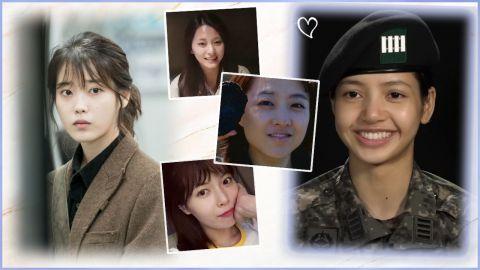 素顏讓人嚇一跳?細數8個美人級韓星超淡妝容!網友:比化妝還要美!