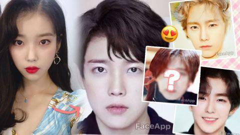 11位女韓星「FaceApp」換臉變男神!IU、太妍、子瑜超帥!網友:「她」可以直接出道!